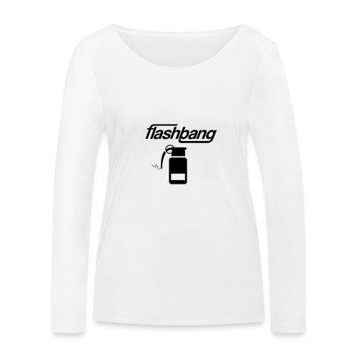FlashBang Logga - 100kr Donation - Ekologisk långärmad T-shirt dam från Stanley & Stella