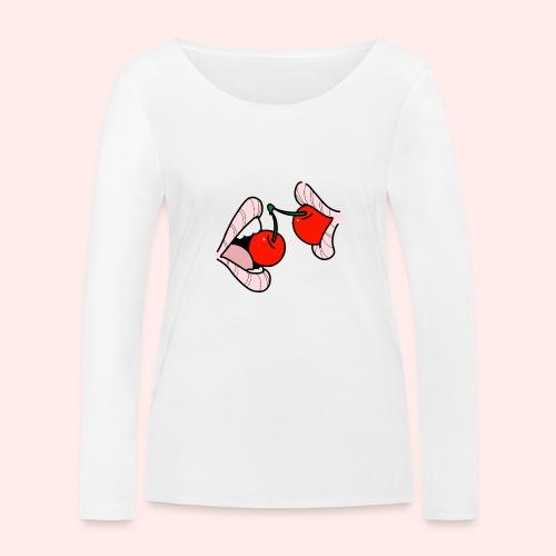 Cherry lips - Frauen Bio-Langarmshirt von Stanley & Stella
