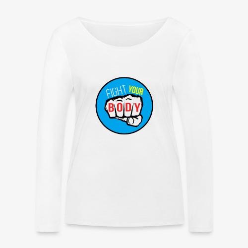 logo fyb bleu ciel - T-shirt manches longues bio Stanley & Stella Femme