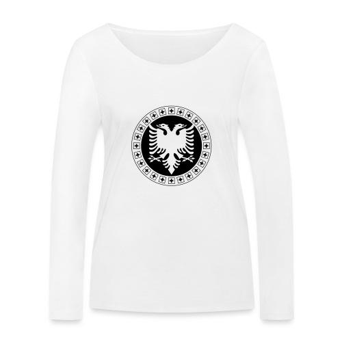 Albanien Schweiz Shirt - Frauen Bio-Langarmshirt von Stanley & Stella