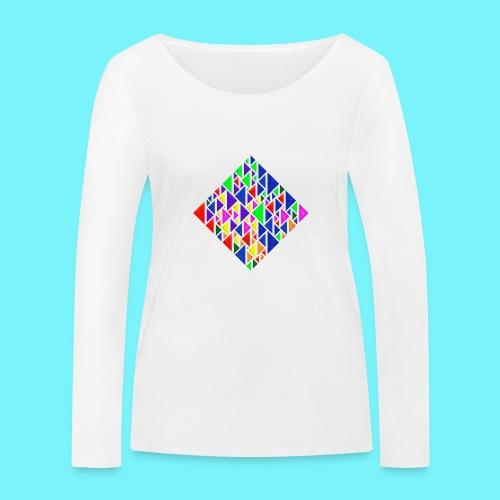 A square school of triangular coloured fish - Women's Organic Longsleeve Shirt by Stanley & Stella