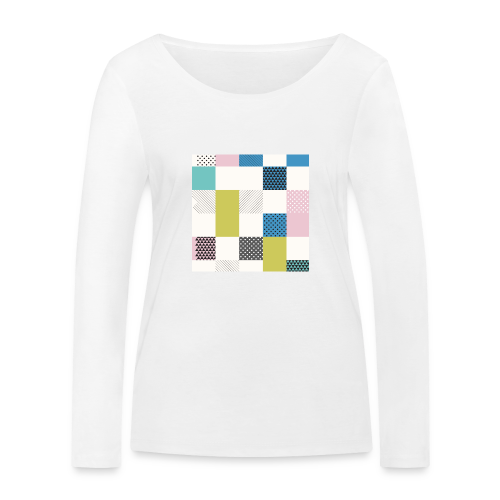 Abstract art squares - Women's Organic Longsleeve Shirt by Stanley & Stella