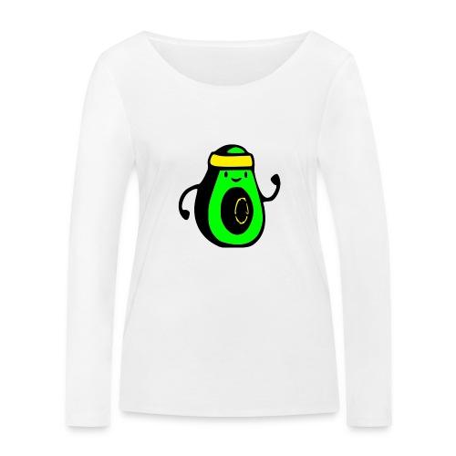 aguacate ninja - Camiseta de manga larga ecológica mujer de Stanley & Stella