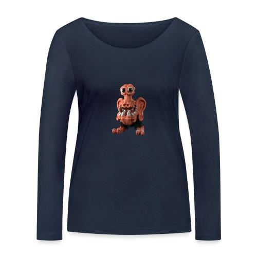 Very positive monster - Women's Organic Longsleeve Shirt by Stanley & Stella