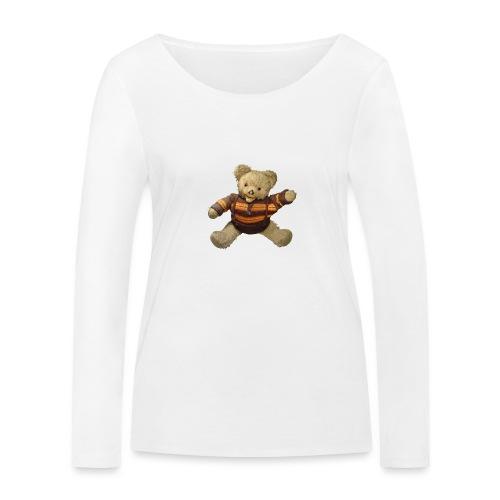 Teddybär - orange braun - Retro Vintage - Bär - Frauen Bio-Langarmshirt von Stanley & Stella