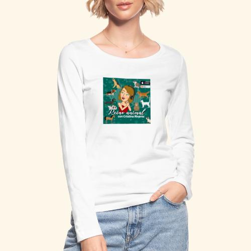 reino animal 01 - Camiseta de manga larga ecológica mujer de Stanley & Stella