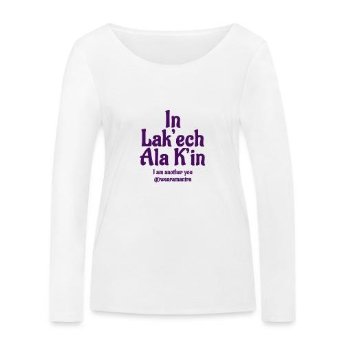 In Lak ech Ala K'in purple - Maglietta a manica lunga ecologica da donna di Stanley & Stella