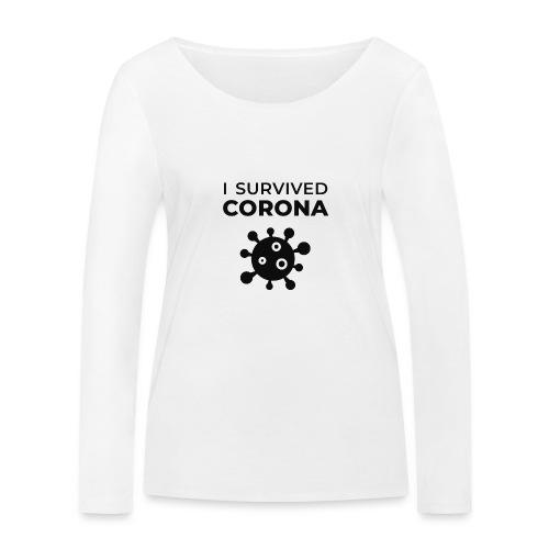 I survived Corona (DR22) - Frauen Bio-Langarmshirt von Stanley & Stella