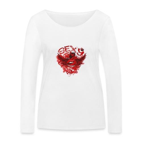 SEXY Lips heart Wings - Sexy Lippen Herz Flügel - Frauen Bio-Langarmshirt von Stanley & Stella