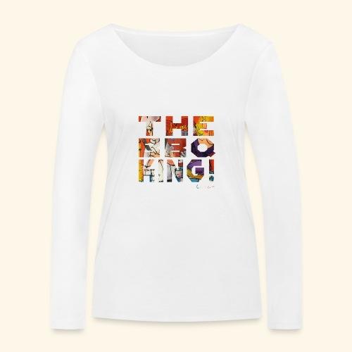 THE BBQ KING T SHIRTS TEKST - Vrouwen bio shirt met lange mouwen van Stanley & Stella
