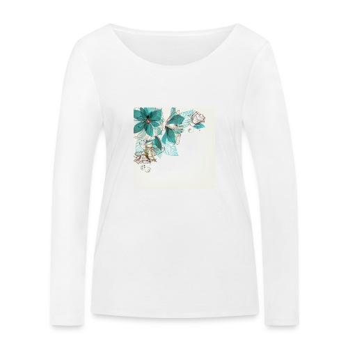 Tropical Flora - Women's Organic Longsleeve Shirt by Stanley & Stella