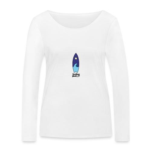 Surfboard - Vrouwen bio shirt met lange mouwen van Stanley & Stella