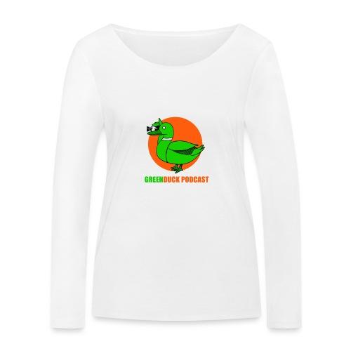 Greenduck Podcast Logo - Økologisk Stanley & Stella langærmet T-shirt til damer