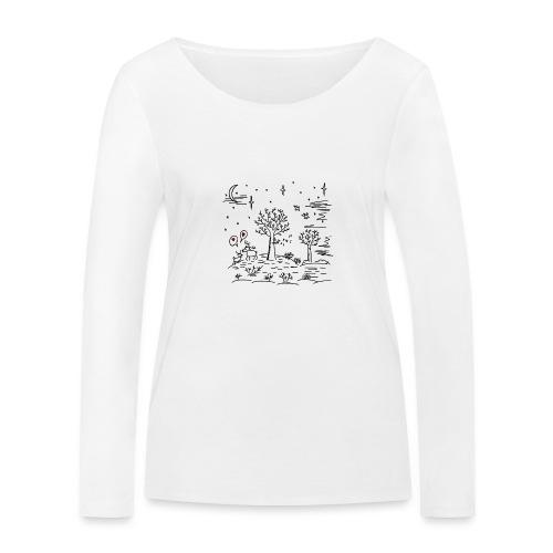 winter tafereel - T-shirt manches longues bio Stanley & Stella Femme