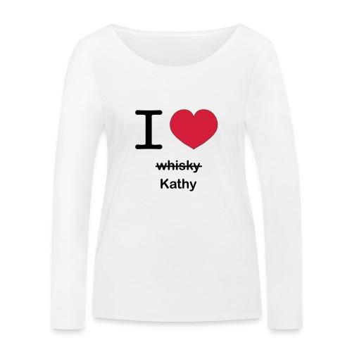 ilovekathy - Vrouwen bio shirt met lange mouwen van Stanley & Stella