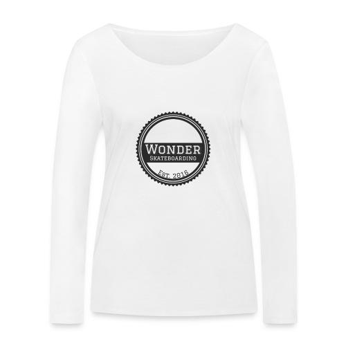 Wonder unisex-shirt round logo - Økologisk Stanley & Stella langærmet T-shirt til damer