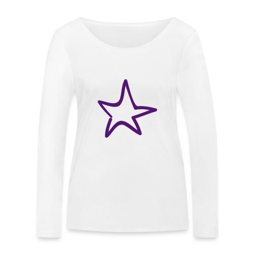 Star Outline Pixellamb - Frauen Bio-Langarmshirt von Stanley & Stella