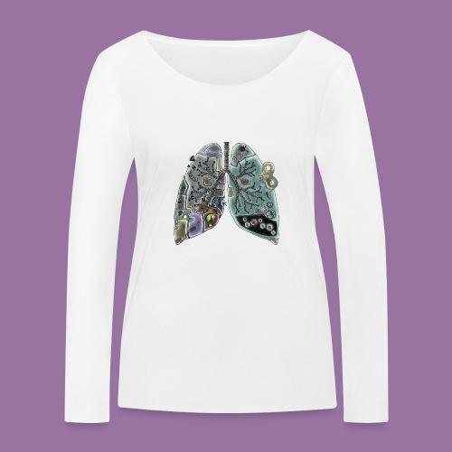 Robo-polmoni - Maglietta a manica lunga ecologica da donna di Stanley & Stella