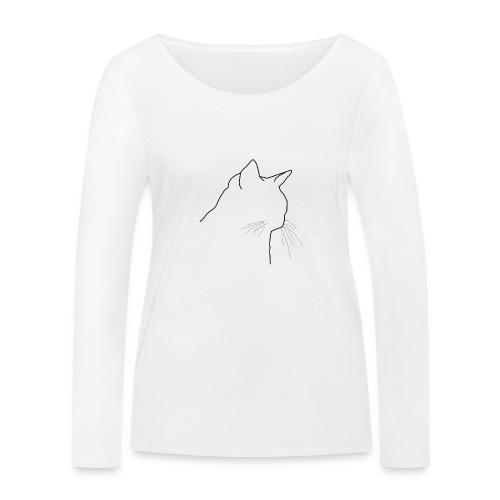 Katzenkopf - Frauen Bio-Langarmshirt von Stanley & Stella