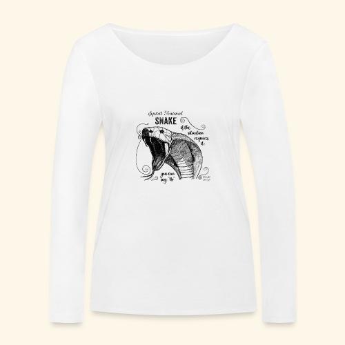 Spirit Animal Schlange schwarz - Frauen Bio-Langarmshirt von Stanley & Stella