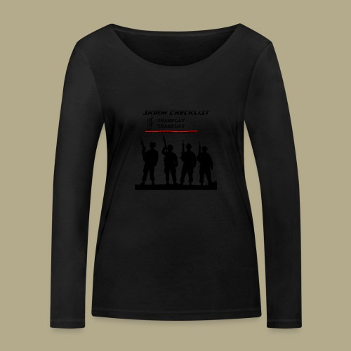 Skirm Checklist - Vrouwen bio shirt met lange mouwen van Stanley & Stella