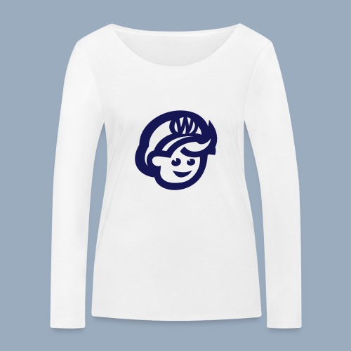 logo bb spreadshirt bb kopfonly - Frauen Bio-Langarmshirt von Stanley & Stella