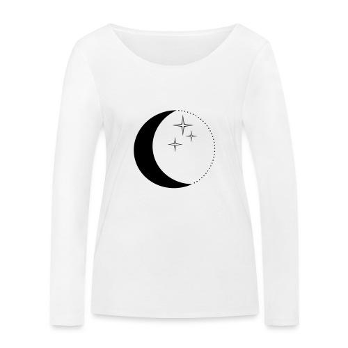 Moon and stars - Frauen Bio-Langarmshirt von Stanley & Stella