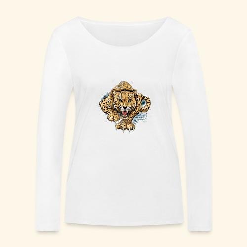 Leopardo KutuXa - Camiseta de manga larga ecológica mujer de Stanley & Stella