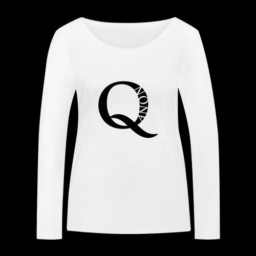 Q Anon Q-Anon Original Logo - Frauen Bio-Langarmshirt von Stanley & Stella