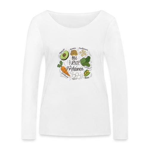 Mi fuente de proteinas - Camiseta de manga larga ecológica mujer de Stanley & Stella