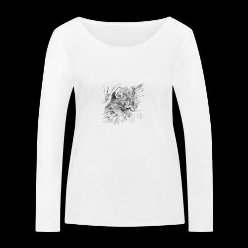 chat triste - T-shirt manches longues bio Stanley & Stella Femme