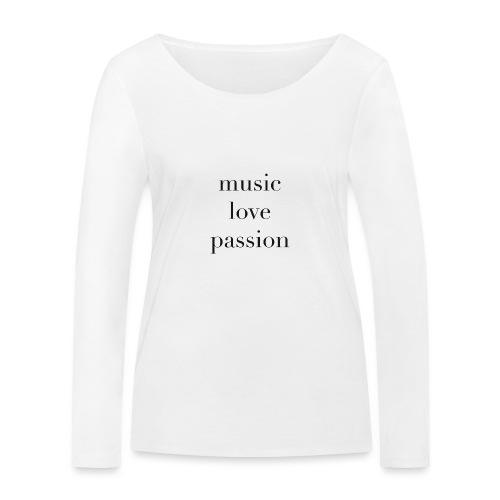 music love passion - schwarz - Frauen Bio-Langarmshirt von Stanley & Stella