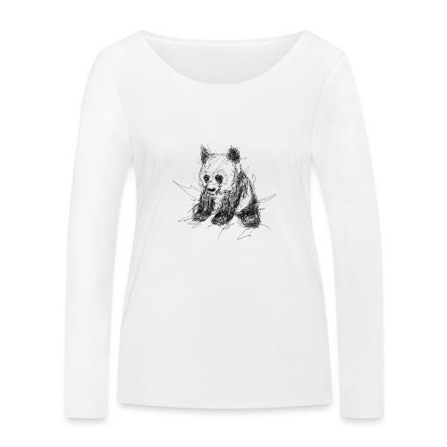 Scribblepanda - Women's Organic Longsleeve Shirt by Stanley & Stella