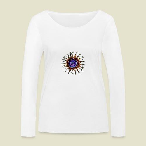 Celebrate Life Mandala - Frauen Bio-Langarmshirt von Stanley & Stella