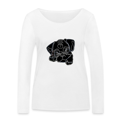 Pug Face - Women's Organic Longsleeve Shirt by Stanley & Stella