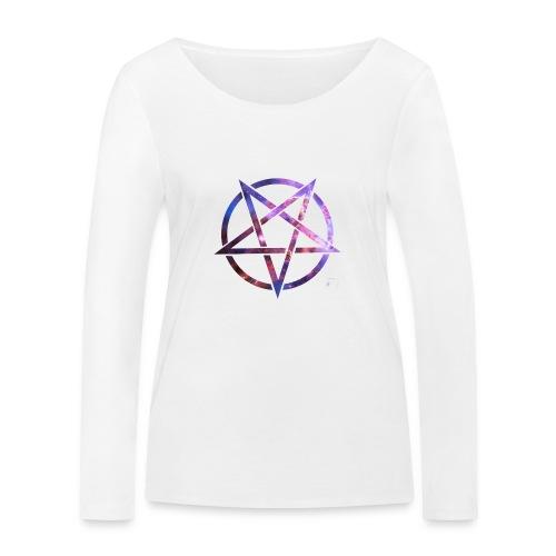 Cosmic Pentagramm - Women's Organic Longsleeve Shirt by Stanley & Stella