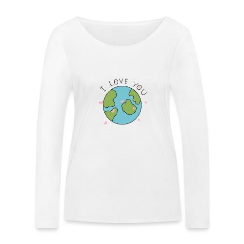 iloveyou - Maglietta a manica lunga ecologica da donna di Stanley & Stella