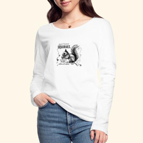 Spirit Animal Eichhörnchen schwarz - Frauen Bio-Langarmshirt von Stanley & Stella