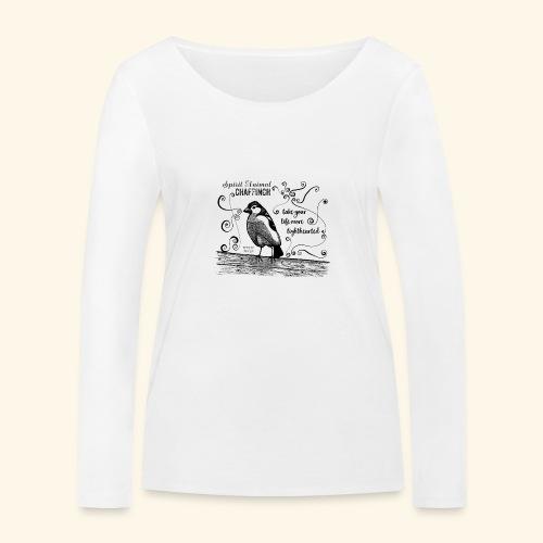 Spirit Animal Buchfink schwarz - Frauen Bio-Langarmshirt von Stanley & Stella