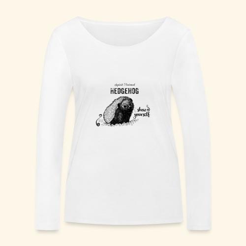Spirit Animal Igel schwarz - Frauen Bio-Langarmshirt von Stanley & Stella