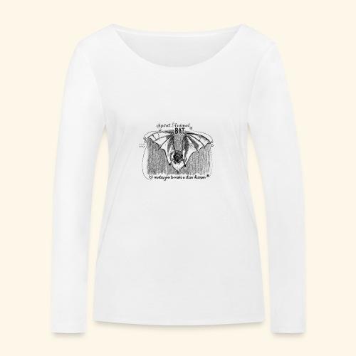 Spirit Animal Fledermaus schwarz - Frauen Bio-Langarmshirt von Stanley & Stella