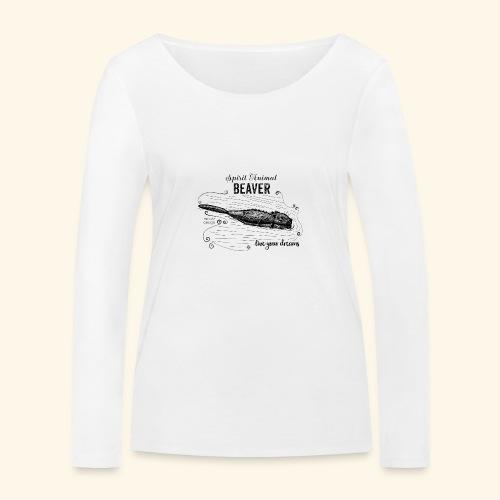 Spirit Animal Piber schwarz - Frauen Bio-Langarmshirt von Stanley & Stella