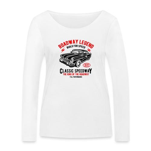 Roadway Legend Build for Speed - Vrouwen bio shirt met lange mouwen van Stanley & Stella