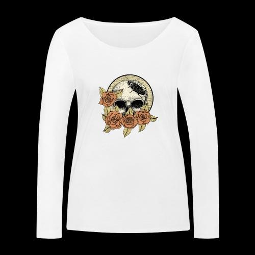 Rose et tête de mort - T-shirt manches longues bio Stanley & Stella Femme