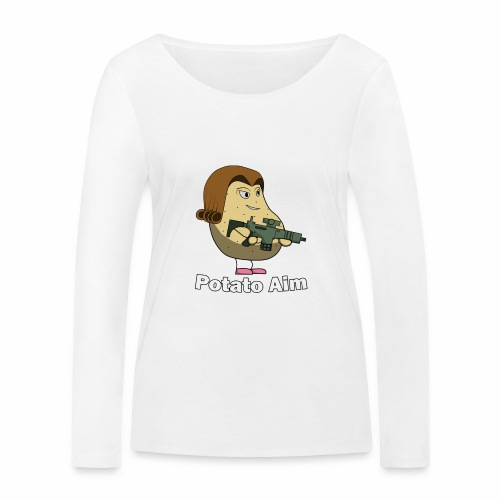 Mrs Potato Aim - Women's Organic Longsleeve Shirt by Stanley & Stella