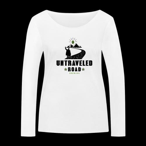 Untraveled Road Logo - black/small - Frauen Bio-Langarmshirt von Stanley & Stella