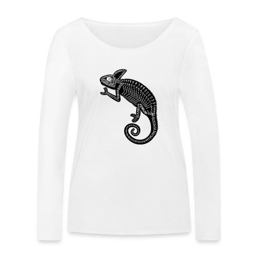 Chameleon Skeleton - Vrouwen bio shirt met lange mouwen van Stanley & Stella