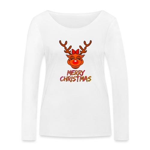 Rudolph weiblich - Frauen Bio-Langarmshirt von Stanley & Stella
