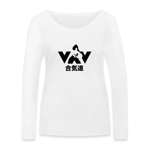 aikido zwart - Vrouwen bio shirt met lange mouwen van Stanley & Stella