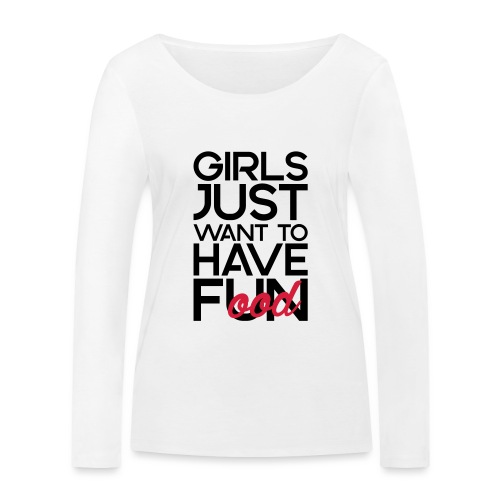Girls just want to have food - Vrouwen bio shirt met lange mouwen van Stanley & Stella